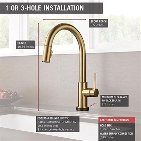 delta 9159t dst trinsic single handle pull down kitchen delta faucet 9159t cz dst trinsic single handle pull down