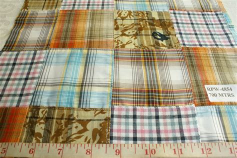 Madras Patchwork - patchwork madras fabric made in india cotton patchwork