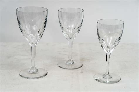baccarat crystal barware baccarat stemware genova pattern at 1stdibs