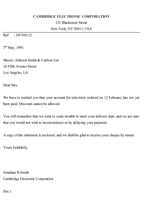 Business Letter Sle For Inquiry Inquiry Letter