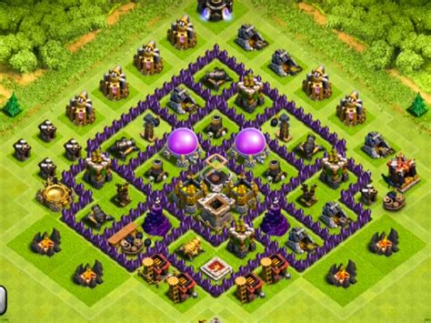 layout design coc th 7 th7 farming base layout www pixshark com images