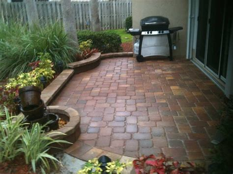 backyard pavers ideas permit needed for paver patio the home depot community