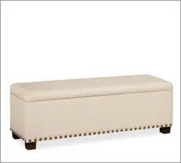 Bed Bench With Storage Raleigh Upholstered Storage Bench With Nailhead