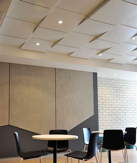 Modern Ceiling Finishes by Modern Usg Ceilings Tiles With White Geometric Coopers