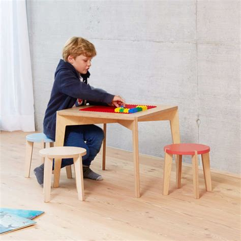 modern childrens furniture modern table and stool for children by blueroom