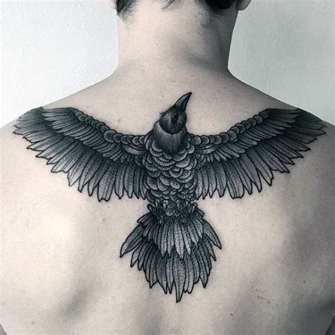 raven wing tattoo 100 designs for scavenge sooty bird ink