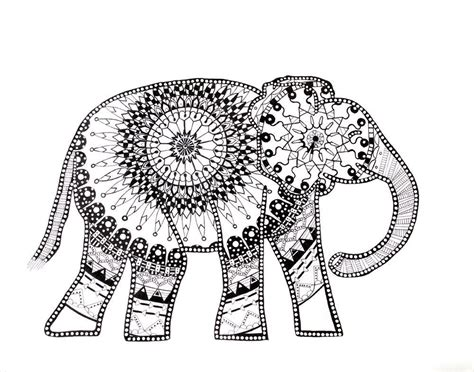 bear mandala coloring pages this elephant mandala drawing is hand drawn with micron