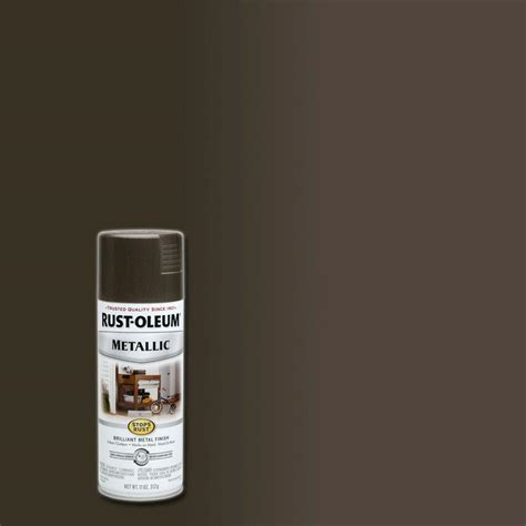 rust oleum stops rust  oz metallic dark bronze