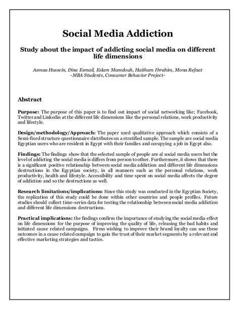 Social media addiction-Primary Research