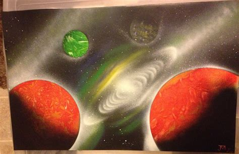 spray paint galaxy galaxy planets paint pics about space
