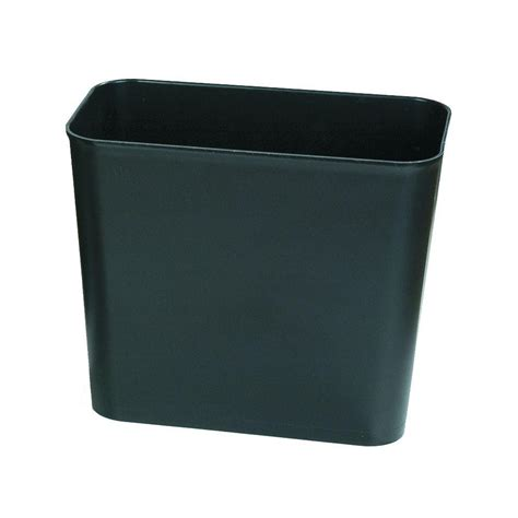 Small Trash Can Home Depot Rubbermaid Commercial Products 7 Gal Black Rectangular