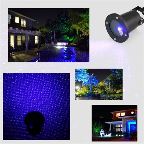 garden laser light blue static firefly projector starry