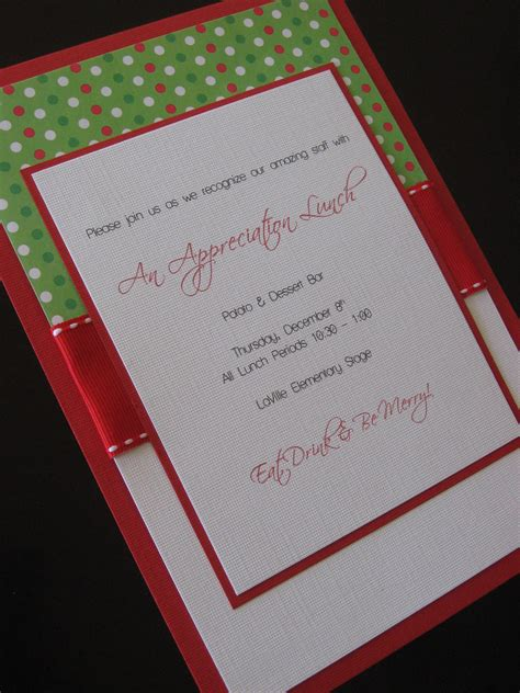 creative homemade christmas party invitations