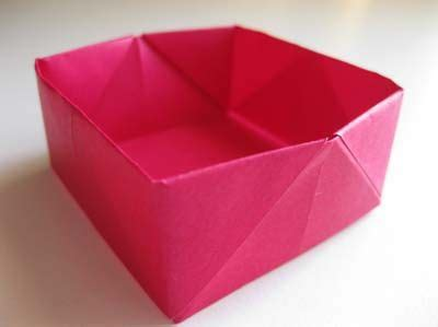 Collapsible Origami Box - easy origami box folding origami