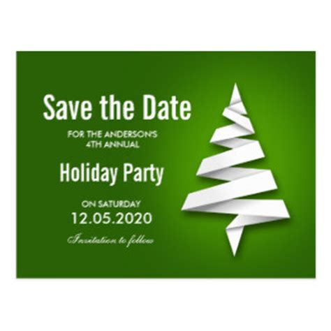 Christmas Party Save The Date Postcards Zazzle Save The Date Postcard Templates 2
