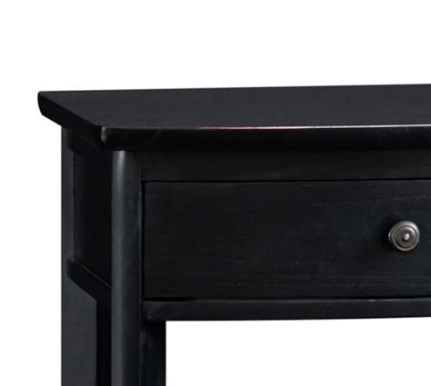 black bedside table ls wood bedside table pottery barn