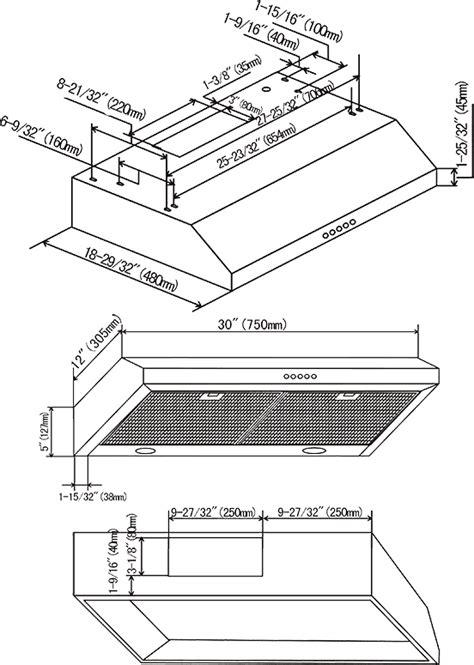 cabinet depth range hood uc200 30 inch under cabinet stainless steel range hood