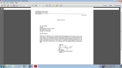 Support Letter For St 4 Harnett Board Of Commissioners Supports Charter School Or Do They Harnett Dispatch