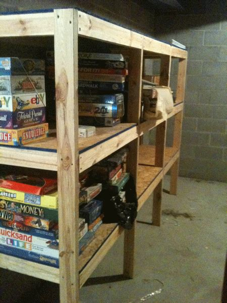 diy basement shelves plans wooden  toy box making kit