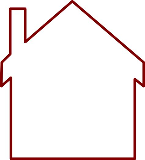 house outline brown house outline clip art at clker com vector clip