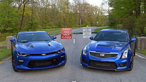 cadillac and chevrolet showdown chevrolet camaro ss vs cadillac ats v the drive