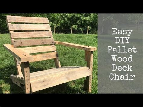 easy diy pallet wood deck chair youtube