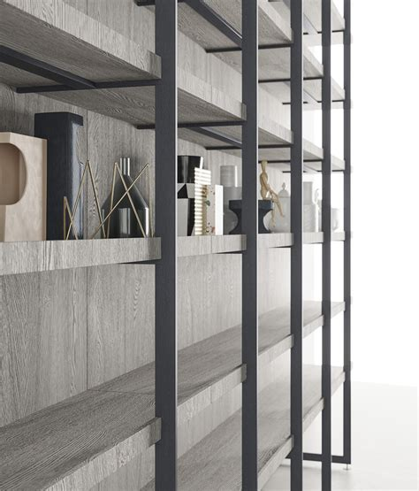 libreria metallo libreria modulare segni living di zieri arredare