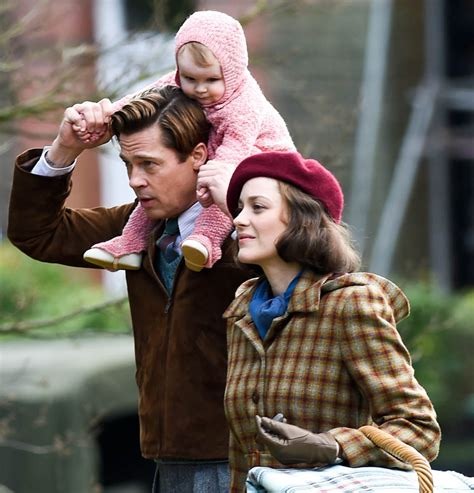 Lepaparazzi News Update Strollin Along With The Pitts by Brad Pitt And Marion Cotillard On Set Of Five Seconds Of