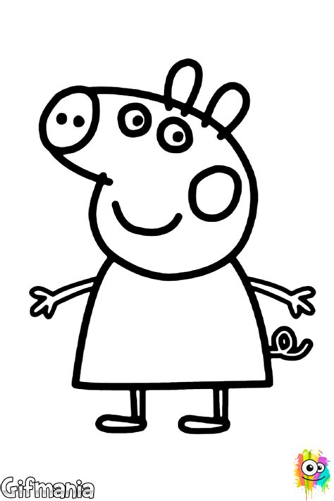 peppa pig coloring pages danny dog peppa pig coloring page