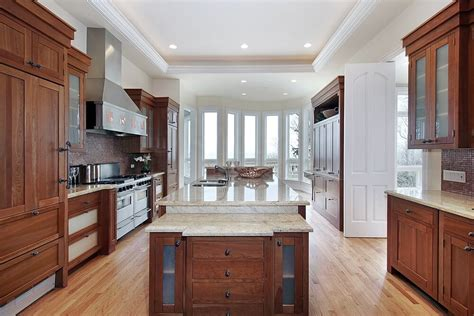 dark cabinets lighter wood floors light countertops 43 quot new and spacious quot darker wood kitchen designs layouts