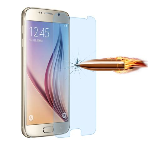Tempered Glass For Samsung Galaxy S6 Edge Blue angibabe 0 3mm 2 5d curved edge blue light filter tempered