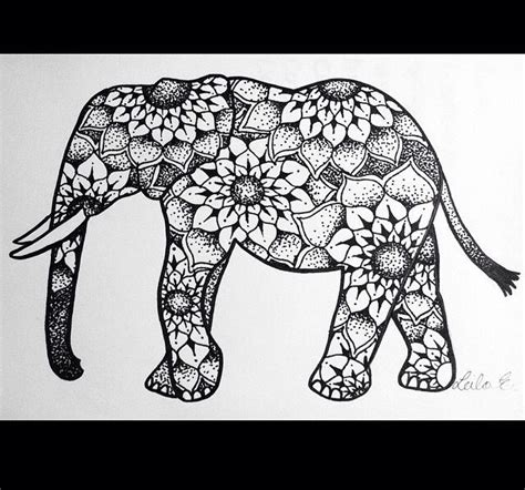 elephant mandala coloring pages easy 31 best images about elephant on pinterest tribal