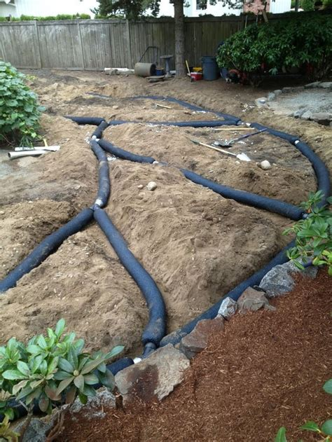 backyard french drain french drain install yelp landscaping ideas
