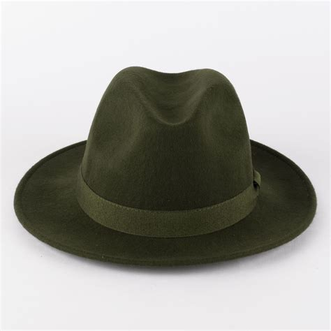 Handcrafted Hats - 100 wool fedora hat with grosgrain band handmade in italy