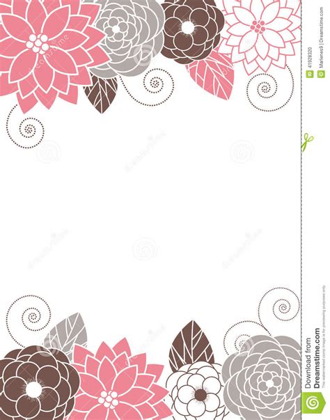 card template for flowers floral invitation card stock vector illustration of card