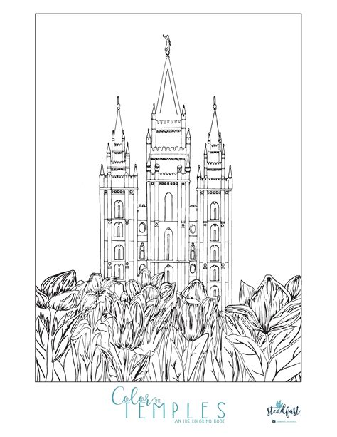 coloring pages lds enjoy this beautiful free temple coloring page lds net