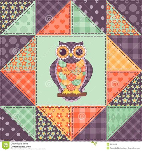 patchwork muster patchwork patterns seamless patchwork owl pattern
