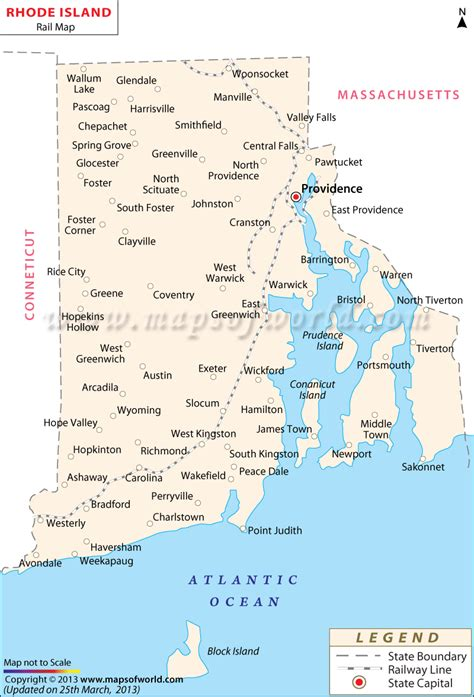 rhode island on map rhode island rail map route
