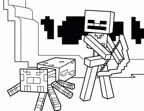 minecraft coloring pages bow and arrow minecraft coloring pages best coloring pages for kids
