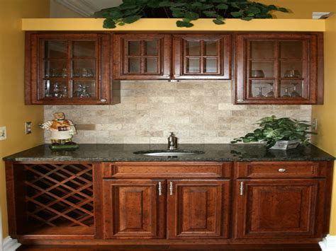 Kitchen Cabinet Backsplash by Tile Floor With Maple Cabinets Kitchen Backsplash Ideas