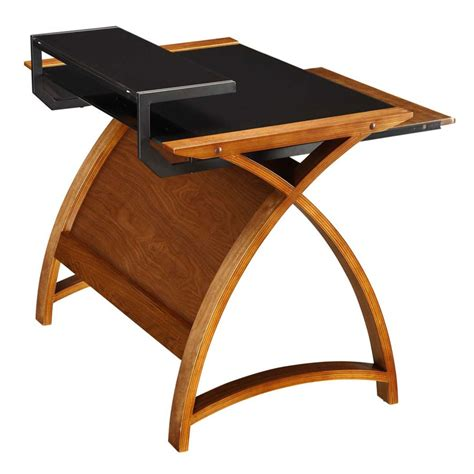 Walnut Home Office Desk Curve Home Office Walnut Desk 90cm