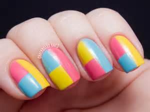 color block nails sally hansen color block manicure tutorial