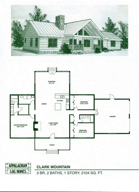 mountain cabin floor plans clark mountain appalachian log timber homes rustic