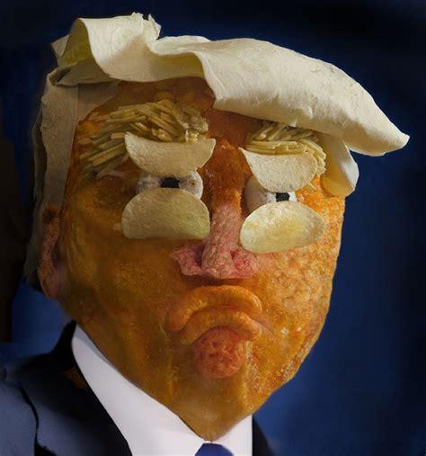 donald trump food processed views artists create donald trump portrait from