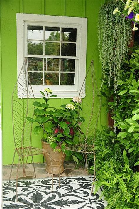 pin by lindsay colby on green with envy green chairs and potting sheds