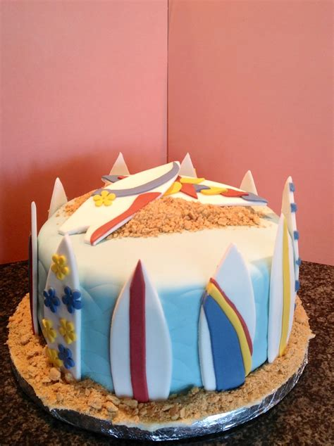 Surf Cake Decorations by Surfboard Cake Cakecentral
