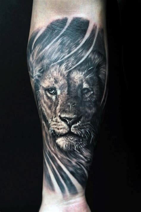 forearm lion tattoo 40 forearm tattoos for manly ink ideas