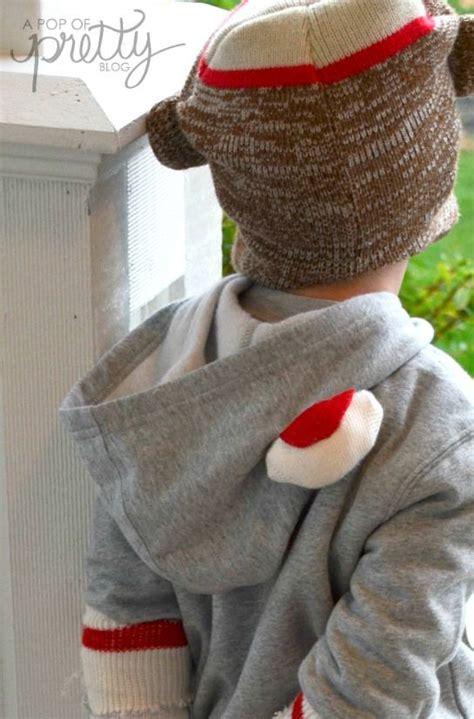 diy sock monkey clothes costume ideas sweet diy sock monkey a pop of