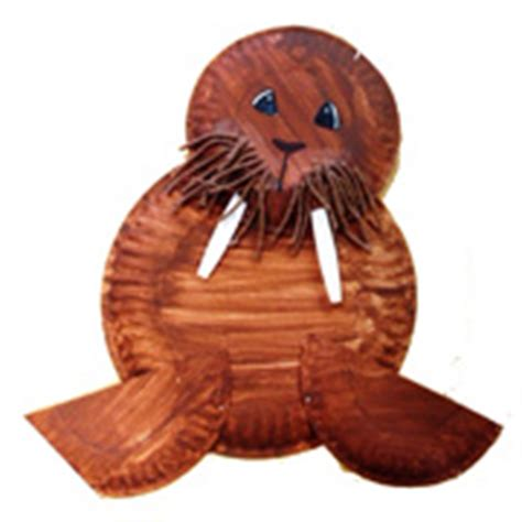 Walrus Paper Plate Craft - walrus crafts and learning activities for