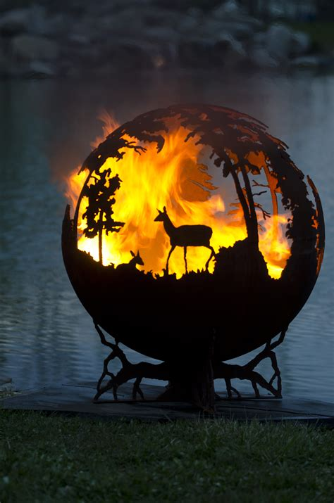 fresh fire pit globes up north fire pit sphere the fire